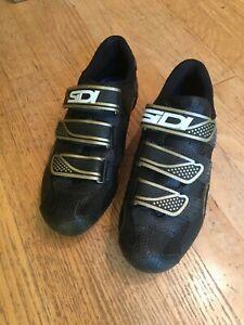 SiDI Women's Mountain Bike Cycling Shoes Size US 6 EU 40 1/2  9 1/2 Black & Gold