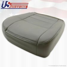 2002 ... 2007 Ford F-250 Lariat Super Duty Driver Bottom Leather Seat Cover Gray