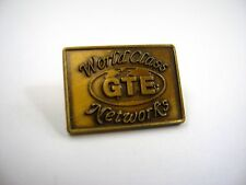 Vintage Collectible Pin: GTE World Class Networks General Telephone & Electric