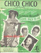 "DOLL FACE Sheet Music ""Chico Chico"" Carmen Miranda Perry Como BRITISH"