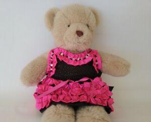 Teddy Bear Clothes, Handmade Pixie Ruffled Skirt and Sequinned Halter Top
