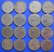 France 20 Centimes 1970, 1972, 1973, 1974, 1976, 1977, 1978, 1979