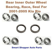 Rear Inner Outer Wheel Bearing, Race, and Seal For 2001-2005 Kia Rio- Pair