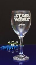 Personalised STAR WAR Engraved WINE Glass by jevge 45