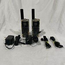 2 Cobra Li-7200 27 mile Long Range 2 Way Radio Walkie Talkie Charger Camo Read!