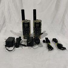 2 Cobra Li-7200 27 mile Long Range 2 Way Radio Walkie Talkie Charger Camo Read!