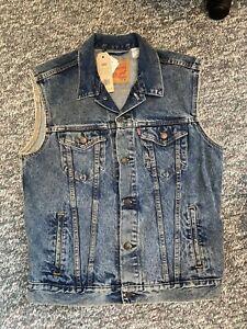 NEW Levis Button Denim Jean Trucker Vest Jacket Levi Strauss 728860007