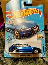 Hot Wheels Audi RS 6 Avant Long Card Factory Fresh Blue new