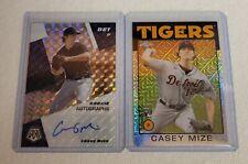 2021 Mosaic CASEY MIZE RC auto prizm, silver pack RC LOT!! Detroit Tigers (2)