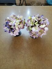 Set Of 2 Diane James Potted Flowers Metal Purple Yellow & Pink Flowers 83-33902