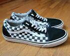 Men's VANS OLD SKOOL Black Checkerboard Shoes SIZE 11.5 Classic 721278