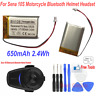 Replacement Battery 650mAh 3.7V for Sena 10S Motorcycle Bluetooth Helmet Headset