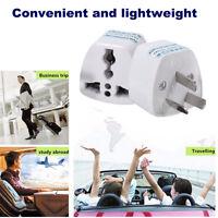Pair 3 Pins EU UK US to Australian Travel AC Power Plug AU Adaptor Converter