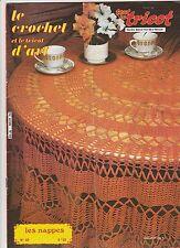 Le crochet et le tricot d'art N°69 septembre 1979 Les nappes