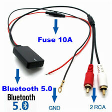 12 V RCA Cable Bluetooth Adapter AUX input Plug & Play For Most Car SUV Radio