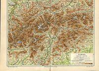 """Landkarte """"Tirol"""" -  Von 1895    (J-BE2)"""