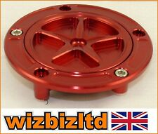 Alloy RED Motorbike Fuel Gas Cap Ducati MONSTER 600 750 1000 ALL YEARS FCAP532R