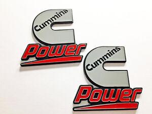 2 Cummins Diesel Power Badges Emblems Decals Kenworth Peterbilt Volvo Ford