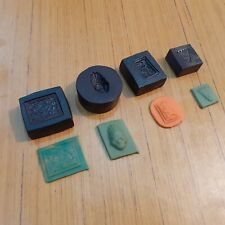 Set Of 4 Old Iron Jewelry Making Tool Mold Stamp Die 680 gm
