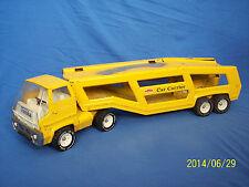 Vintage TONKA Car Carrier Pressed Steel Toy Truck Trailer Hauler Mound Minn USA
