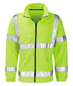 Hi Vis Hi Visibility Fleece Jacket - Hi Viz Yellow - HVFLE