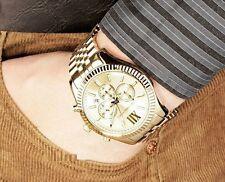 MICHAEL KORS MK8281 LEXINGTON Gold Tone Chronograph Stailess Steel Men Watch