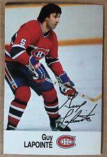 1988-89 GUY LAPOINTE ESSO MINI STICKER CARD MONTREAL CANADIENS