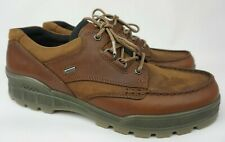 Ecco Track 25 Men's Leather Waterproof Moc Toe Derby Brown Shoes Size 49 / 15 US