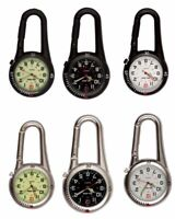 Carabiner Clip on Belt Watches. Sports Fob Watch-Doctors,Nurses,Sports,Hikers