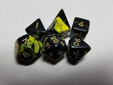 DADI & Games oblio 7 x poliedrico Poly Dadi Set gialla e nera D&D RPG