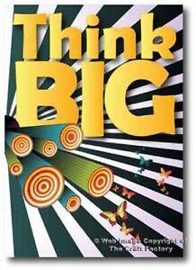 Inspiration Think Big Card Sunshine Designer Range SS09 - Blank Card
