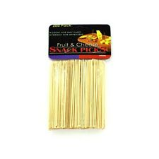 200 Wood Wooden Appetizer Toothpicks Picks for Cheese & Fruit Snacks