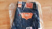 Levi's 501 Non-Selvedge Jeans Straight Hook Washed 36W X 30L BNWT RRP. £80.00