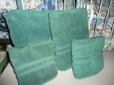 VINTAGE RALPH LAUREN BASIC LARGE GREEN (4PC) SET BATH SHEET, HAND & BATH TOWELS