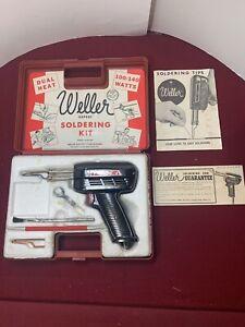 Vintage   Weller   Soldering Gun Kit   8200PK   Carry Case & Extras   USA