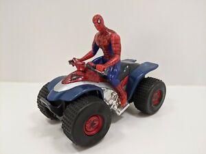 "Marvel Comics 6"" Scale Spider-Man Bump N Go w/ Headlights Quad Bike & Figure"