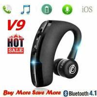 New V9 Wireless Bluetooth 4.0 Headset Sports Headphone Handsfree Q6E2 D5E3