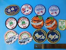 THUNDERBIRD, CAR CLUB PATCHS,  CTCI / BCTC   12 TOTAL