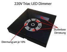 230V Triac Touch Wand Unterputzdose rund Einbau Dimmer Schalter für dimmbare LED