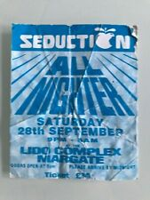 SEDUCTION MARGATE 1996 TICKET RAVE FLYER FLYERS