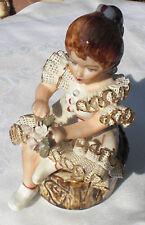 Original ROCERAM Figur, Sitzende Frau, ROMANIA ALBA-JULIA Luchu manual, Deko