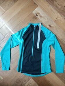 Women's Inoc Cycling Jersey Cyan Pre-owned Size S (D4)