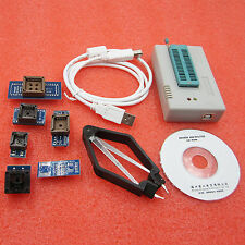 TL866A Programmer USB EPROM FLASH BIOS 6 Socket Extractor Adapters For 13000 IC