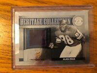 2012 Panini Heritage Collection Game Worn Jersey Minnesota Viking Alan Page /249