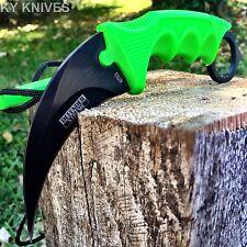 TACTICAL COMBAT KARAMBIT  KNIFE Survival Hunting BOWIE Fixed Blade/SHEATH-SA