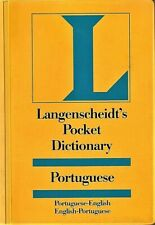 PORTUGUESE-ENGLISH Pocket Dictionary by Langenscheidt (1989, Paperback)