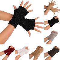 Unisexe tricot hiver Mitaines Gants Chaud Femmes Manche gants moufles NEUF