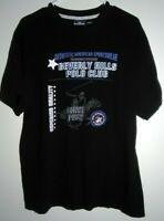 Vintage Black Unisex T Shirt Size XL  Beverly Hills Polo Club Graphic  G