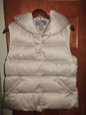 Ann Taylor Womens  Down Filled Beige Vest Size Small S Excellent