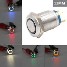 3V 5V 12V 24V 220V Drucktaster LED Ring Schließer Öffner 2A Lötbar Wasserdicht